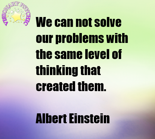 We Can Not Solve Our Problems